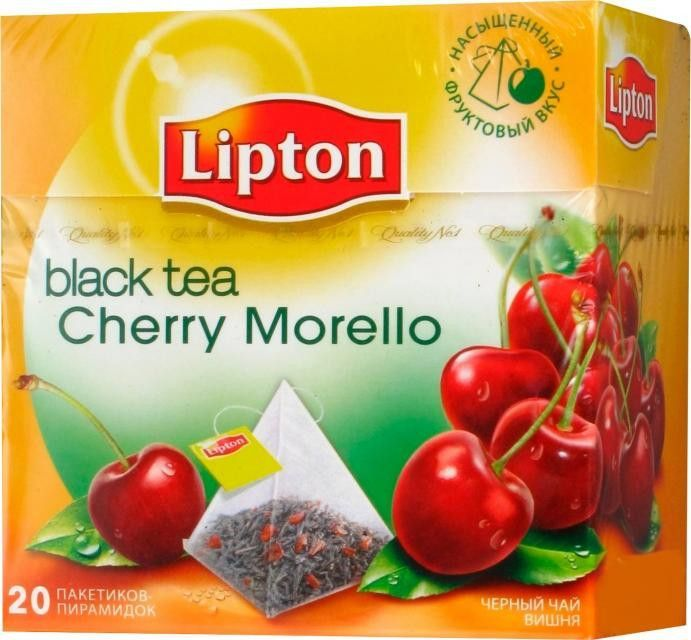 -in USA- Lipton Tea - Cherry Morello - Pyramids -