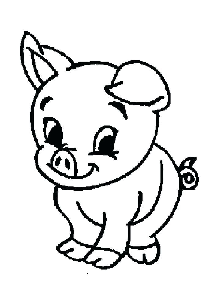 Simple Animal Coloring Pages Animal Coloring Pages For Kids Simple Farm Get This Free Chil Farm Animal Coloring Pages Animal Coloring Pages Farm Coloring Pages