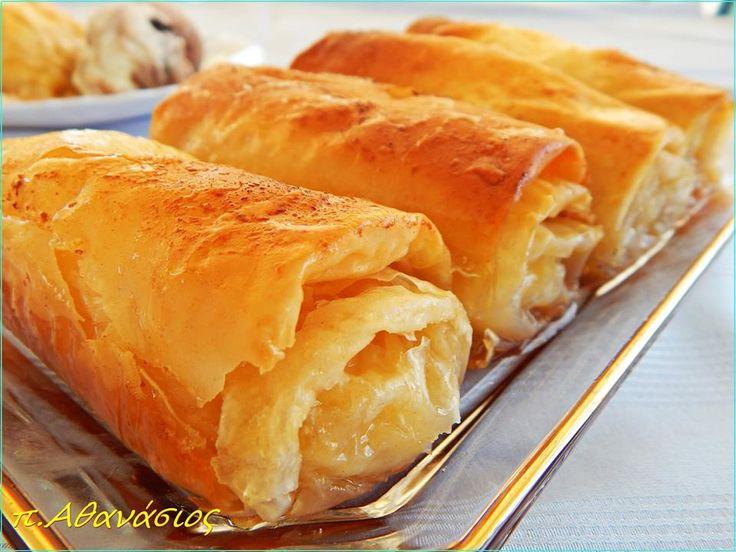 ΜΑΓΕΙΡΙΚΗ ΚΑΙ ΣΥΝΤΑΓΕΣ: Γαλακτομπούρεκο ρολάκια !!! Απίστευτη γεύση !!!