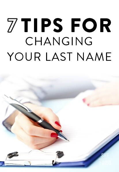 Tips for changing your name