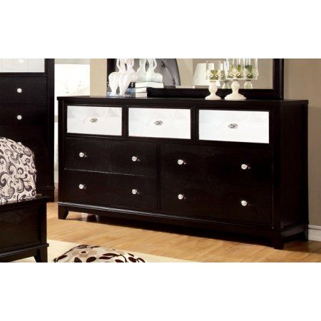 Furniture Of America Bryant Black Bedroom Dresser Crocodile
