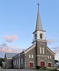 L'église Notre-Dame-des-Sept-Douleurs, à Portneuf.