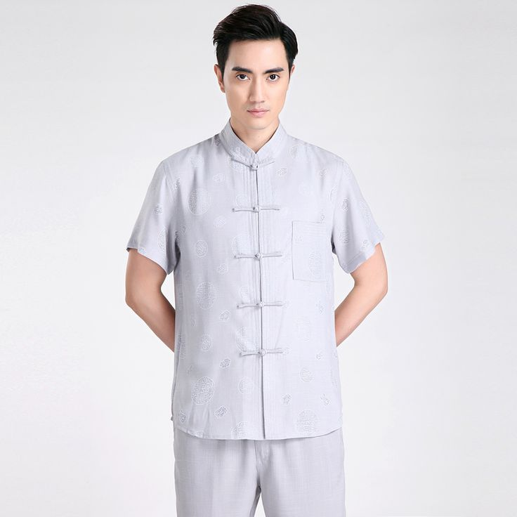Free shipping Short Sleeve Tang suit Chinese Traditional clothing Kung Fu Shirt mandarin collar Chinese Shirt  Linen Chinese Top