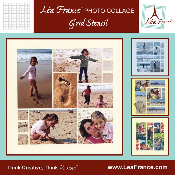Grid Template by Lea France. All the photo collages on this board were designed using this versatile template. The sky is the limit for the pages you can design by using just this template and your imagination. Only $21.99