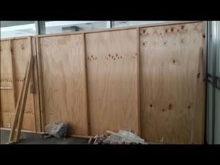 65 metres fencing hoarding ( 12mm plywood timber construction )