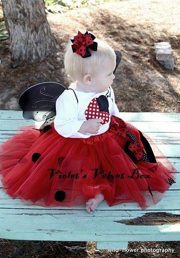 Ladybug Halloween Costume Girl Costume  Baby by VioletsVelvetBox, $38.00