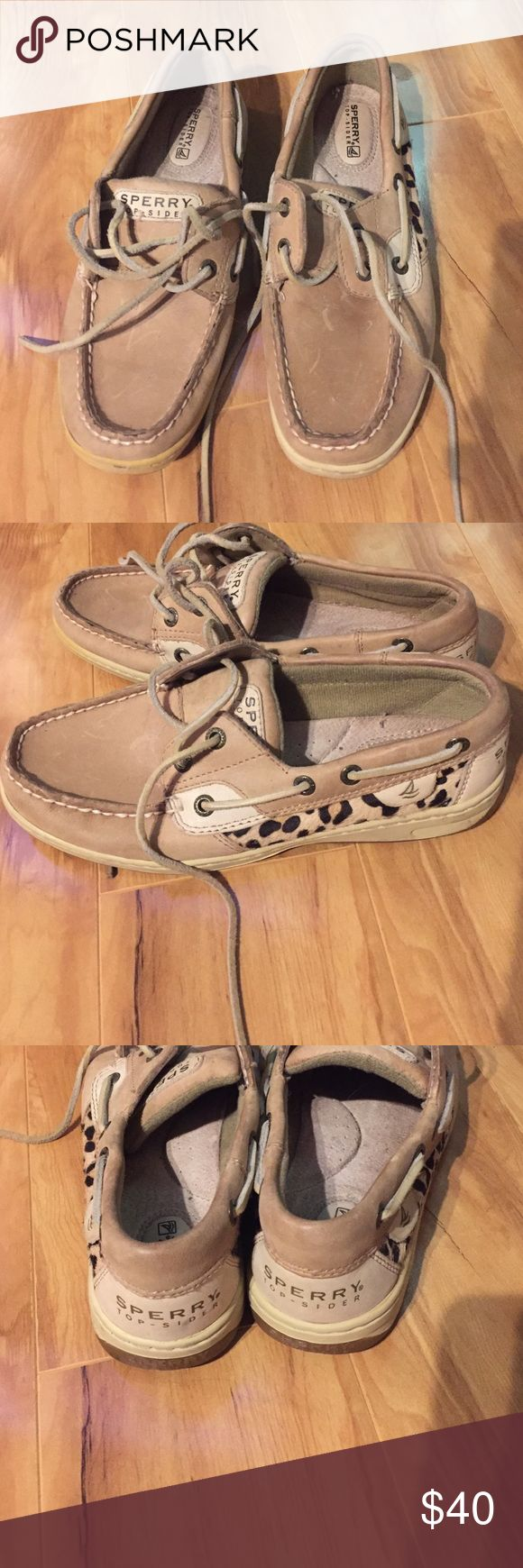 Sperry Topsider ⛄bf sale Animal print sperrys. Size 6. Good condition. Little scratches on the front. Sperry Top-Sider Shoes