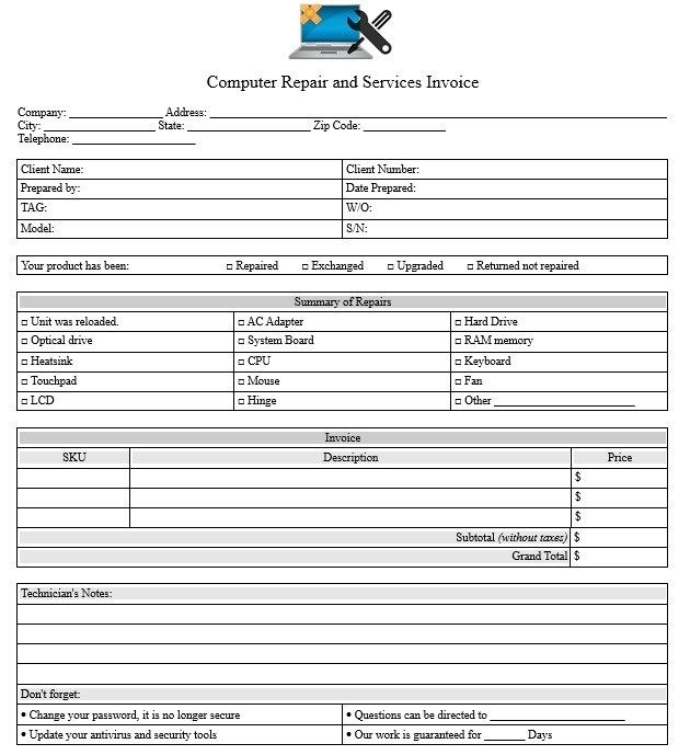 17 Free Computer Purchase Quotation Templates Ms Office Documents Computer Purchase Computers For Sale Quotations