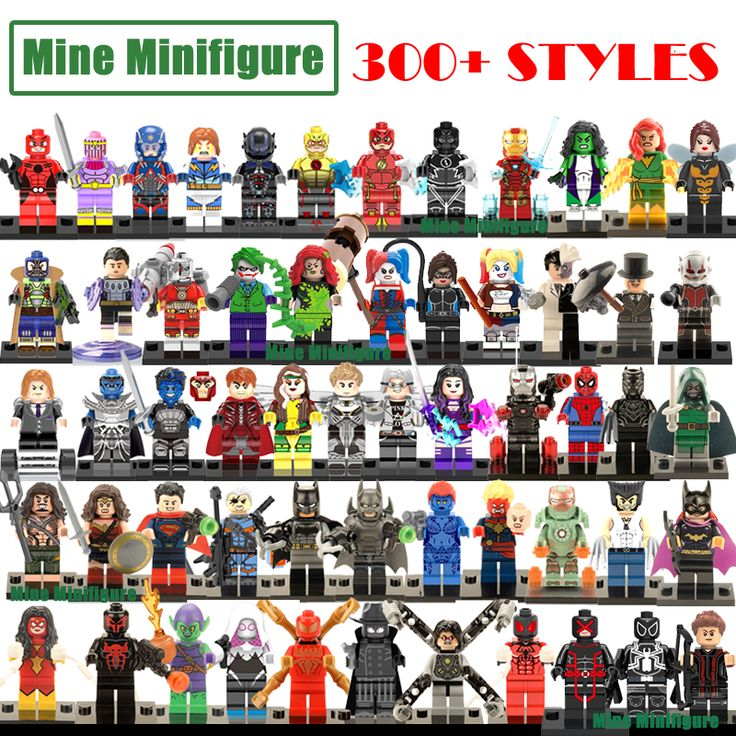Deadpool minifigures bangunan blok dc marvel superheroes avengers batman spiderman iron man tokoh mainan kompatibel dengan lego