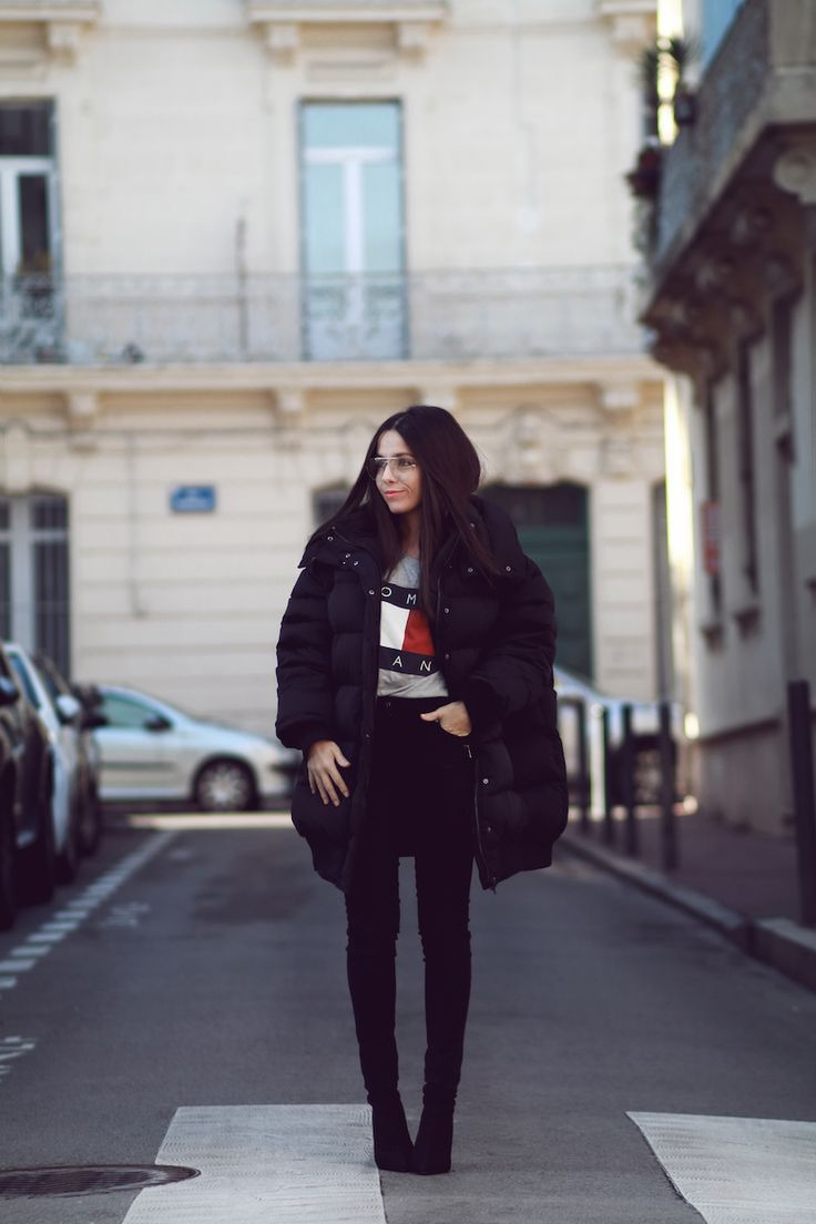 nice Tendance Chaussures 2017 Doudoune oversize H&M T shirt Tommy Hilfiger Jean clim noir