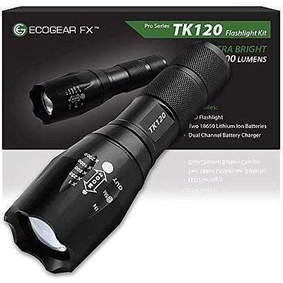NEW Tactical LED  Brightest  Flashlight with 1200 Lumens, Free Shipping