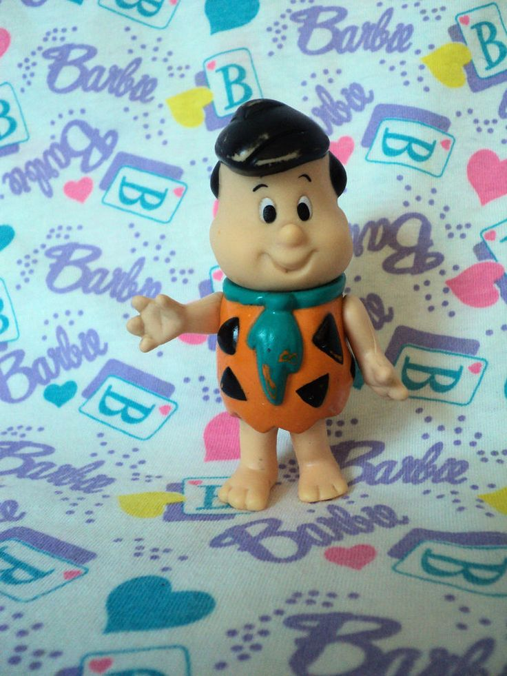 "Vintage The FLINTSTONES KIDS Fred Freddy Flintstone 3.5"" Figure - 1986 Coleco  