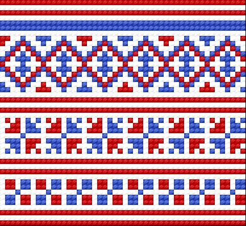Traditional pattern from Kielce (town in Poland, early 20th c.)