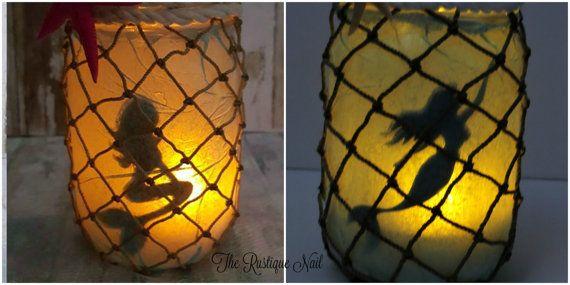 Lanterne de sirène pièce maîtresse sirène par TheRustiqueNail