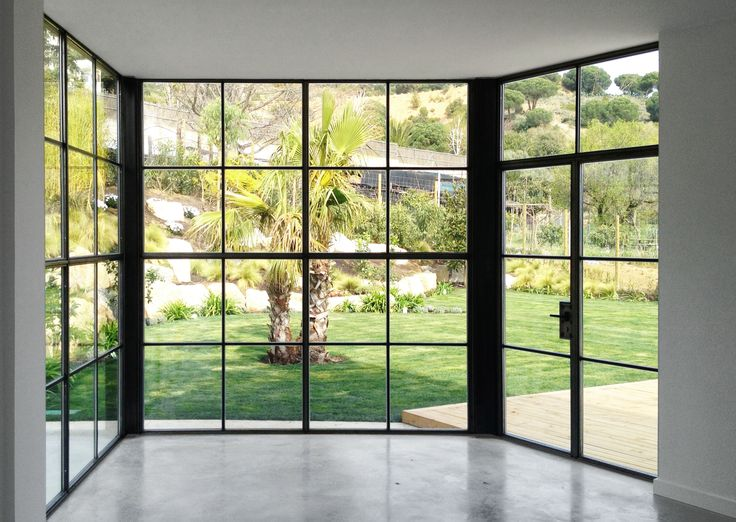 Steel window from the painting studio | A House by 08023 Architects in Barcelona | #Houses #Steel #Windows