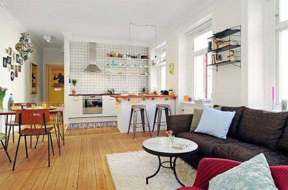 small open kitchen living room designs | Simple Home Decoration
