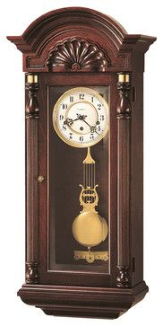 Howard Miller Triple Chime Key Wound Vintage Wall Clock | JENNISON - traditional - Clocks - Interior Clue