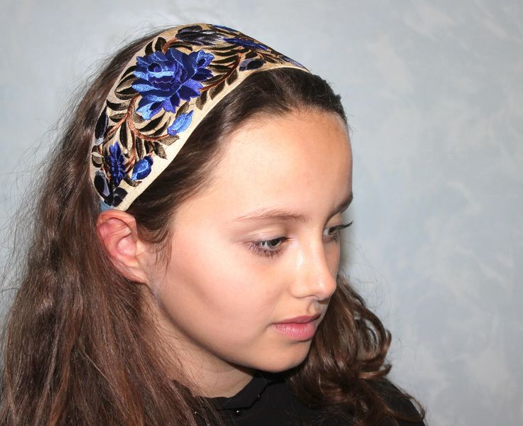Excited to share the latest addition to my #etsy shop: Trim Headband Bohemian headpiece wide headband chic woman Head scarf Boho Headbands Embroidery flower Headband for Women great gifts for her http://etsy.me/2DB2rlB #accessories #hair #headband #blue #graduation #va