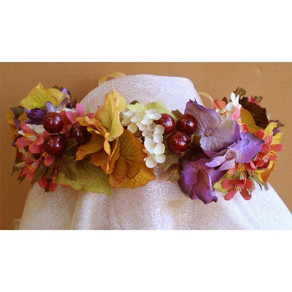 Autumn Festival Faerie fairy Head wreath by TwilightFaerie on Etsy, $35.00