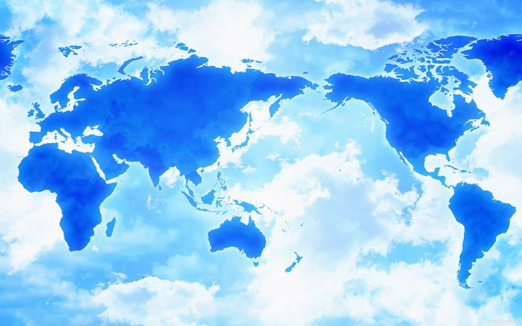 Скачать обои карта, облака, азия, африка, америка, раздел разное в разрешении 1920x1200