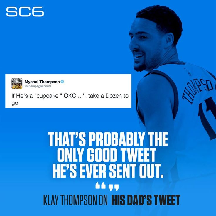 Klay Thompson approves of his dad's trolling.Klay Thompson approves of his dad's trolling.