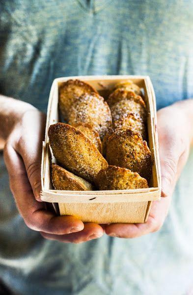 Rustic Pistachio Madeleines #recipe