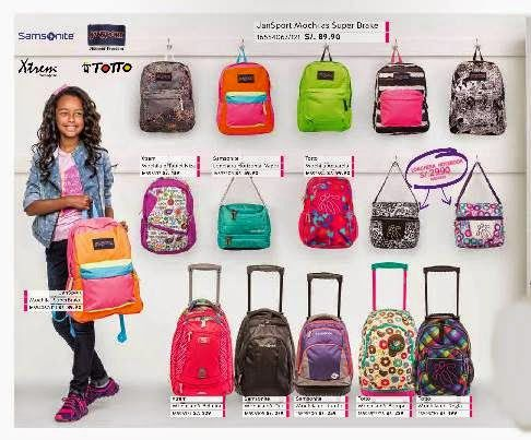 Precio de mochilas xtrem samsonite y totto 2 2015 ripley for Catalogos sofas precios