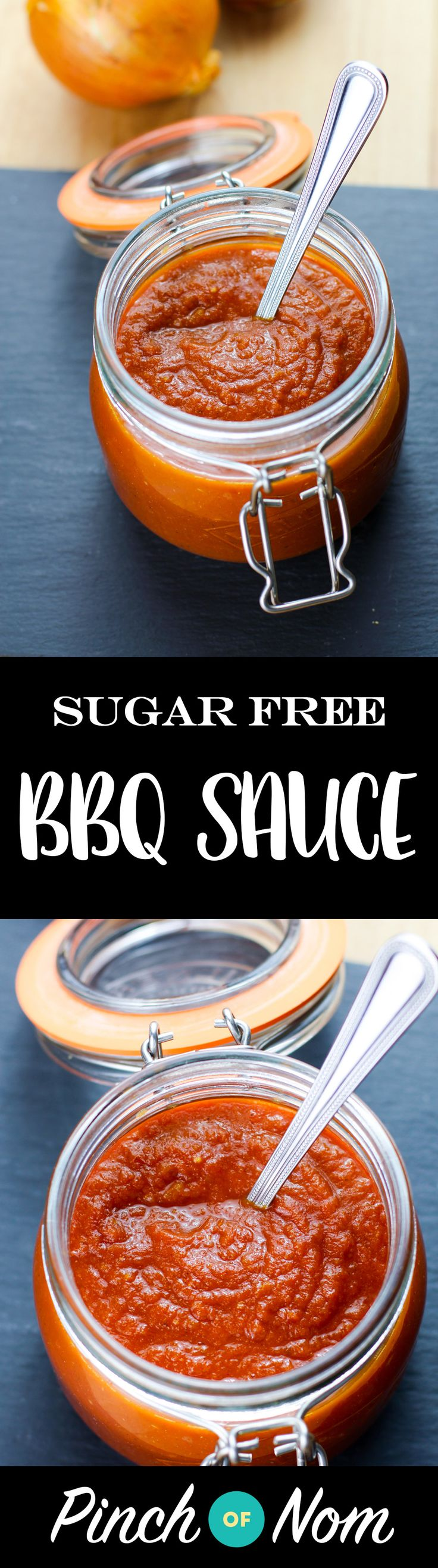 Sugar Free BBQ Sauce - the perfect sauce to go with everything in the Summer | pinchofnom.com