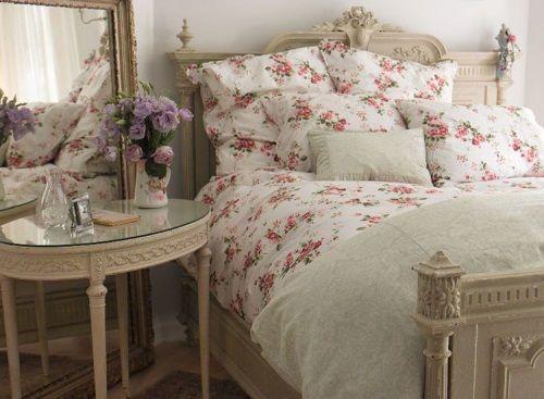 французская кровать, спальня во французском стиле, спальня в стиле прованс
