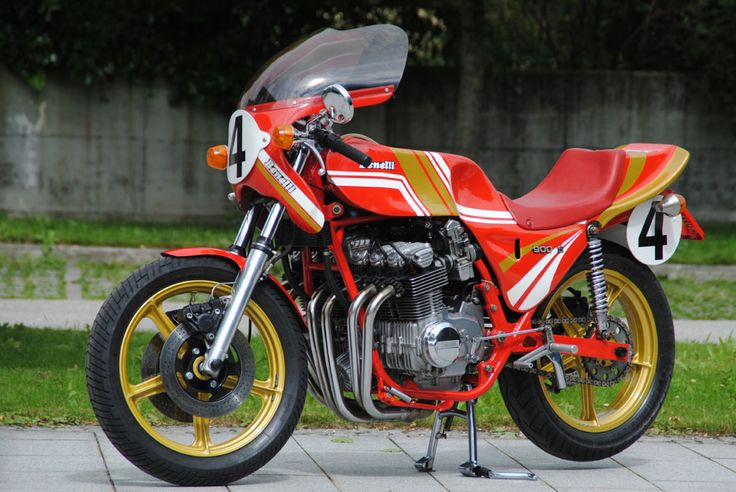 Austrian Hubert Furtner built this Bimota-themed Benelli Sei custom with a short-stroke motor bored out to 900cc, giving 102hp at 10,000 rpm.