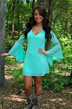 Sydney Ann Dress - Mint $39.99 #SouthernFriedChics