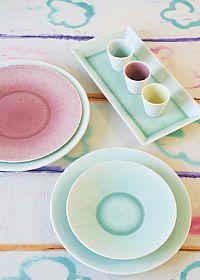 Vuelta New Menthe - Jars Céramistes : céramiques, céramique, vaisselle, grés émaillé, assiettes, bols, uisine
