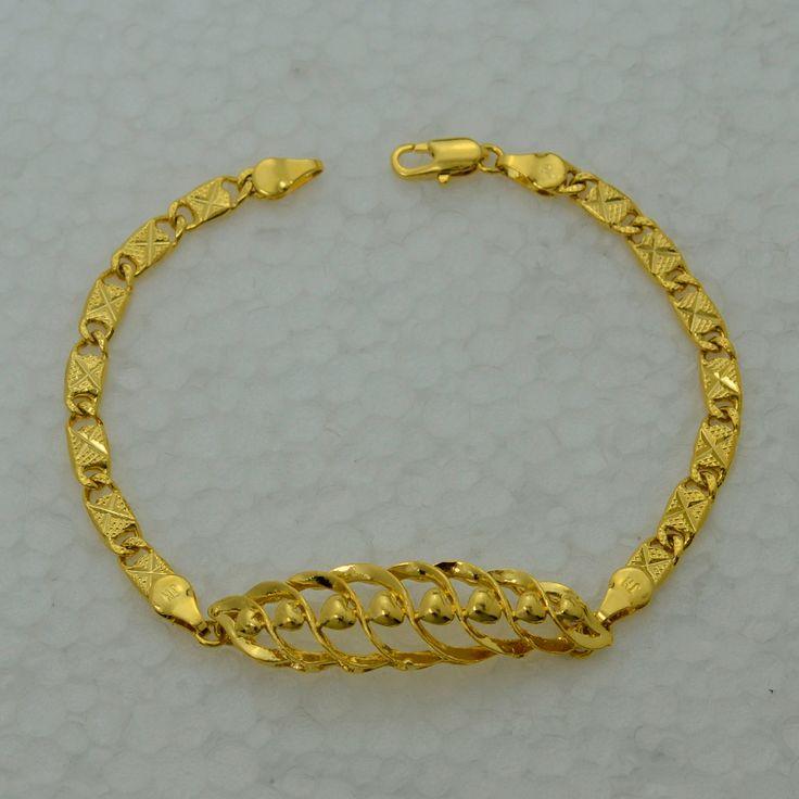 22 К цепи браслеты женщин реального позолоченные заполненные мода ювелирных изделий эфиопские новый модный шарм браслет африки / бразильский / арабская