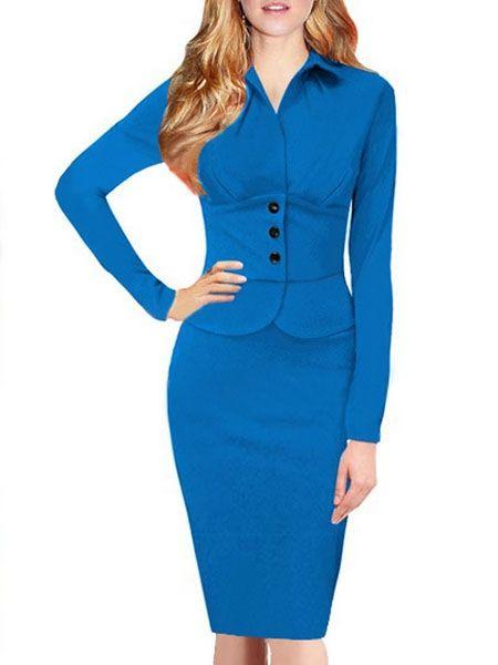 Brilliant Round Neck Blended  Bodycon-dress Bodycon Dress from fashionmia.com