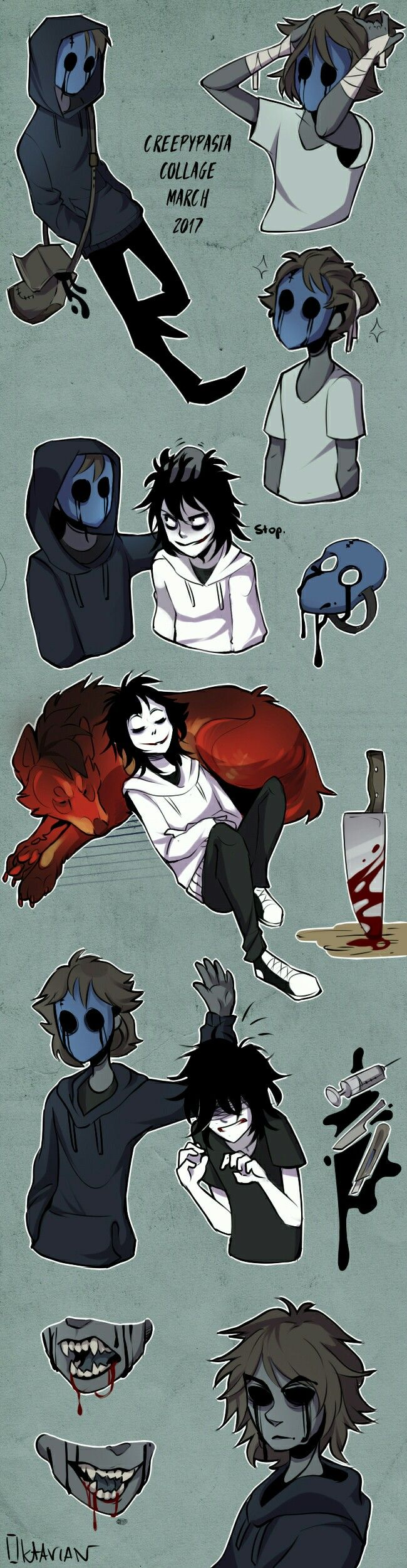 Creepypasta collage March '17 by Oktavian on DeviantArt