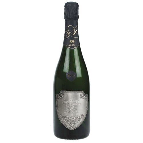 Grand Cru Champagne with Engraved Pewter Label  from www.personalisedweddinggifts.co.uk :: ONLY £72.99