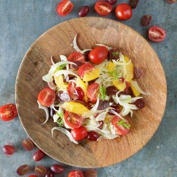 Fennel, Grape, Tomato and Orange Salad