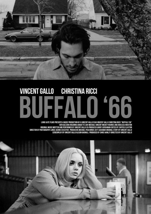 Buffalo '66, 1998 comedy-drama film, writer-director Vincent Gallo's full-length motion picture debut. Gallo & Christina Ricci star in lead roles. Gallo also composed and performed much of the music for the film. Empire listed it as the 36th-greatest independent film ever made.[2] It was filmed in and around Gallo's native Buffalo, New York. The film makes extensive use of British progressive rock music in its soundtrack, notably King Crimson and Yes.