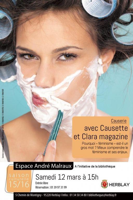 Causerie avec Causette et Clara magazine, Herblay (95220), Val-d'Oise