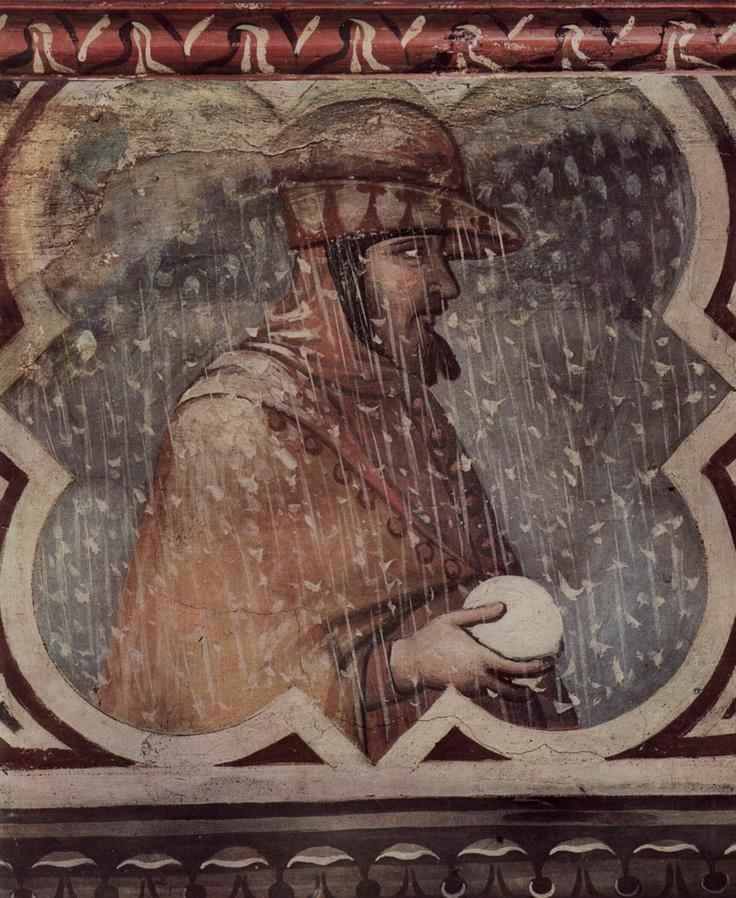 """Winter"" by Ambrogio Lorenzetti, 1338-1340"