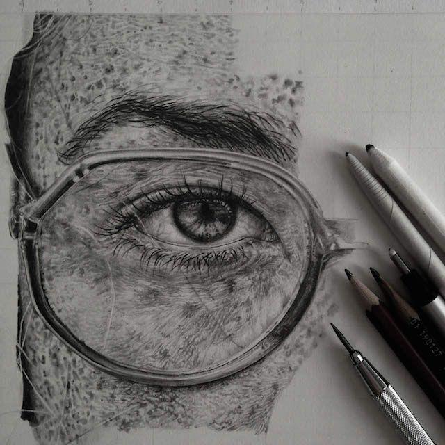 Com apenas um lápis, artista chega à perfeição ao reproduzir fotografias | Catraca Livre