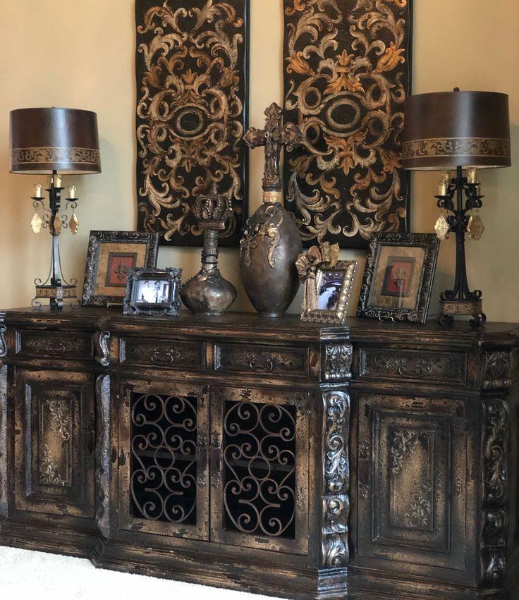 SHOP💕 Www.crownjewel.design Old World Tuscan Style Buffet