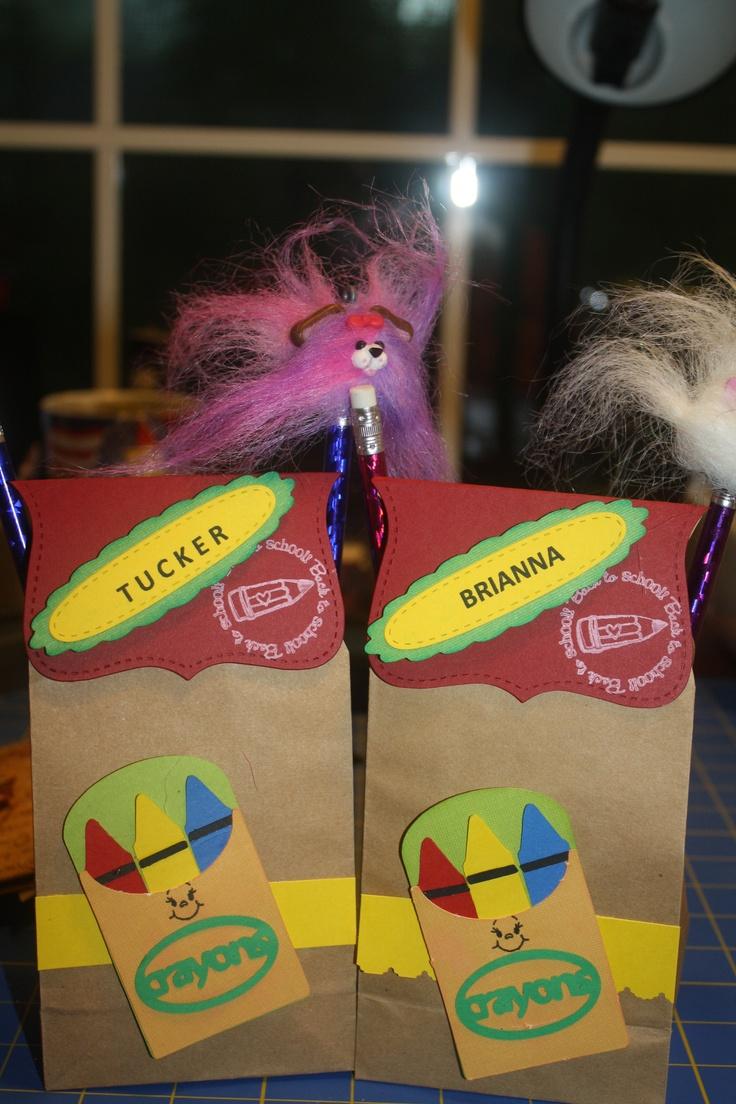 Scrapbook ideas using cricut - Karen Richa Posted Treat Bags Using Simply Charmed Cricut Cartridge I Filled This Paper