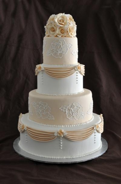 Rose Wedding Cake By Megan1979 on CakeCentral.com