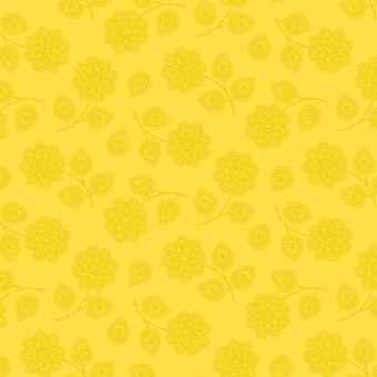 Mustard Seed Henna -  Eden by Tula Pink - Blumenstoff