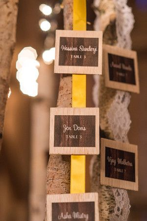 Lavish Dulhan South Asian bridal magazine photo shoot at Cambium Farms. Wedding table cards.
