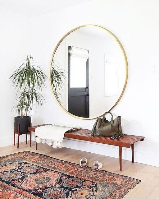 Metal Framed 48″ Round Mirror