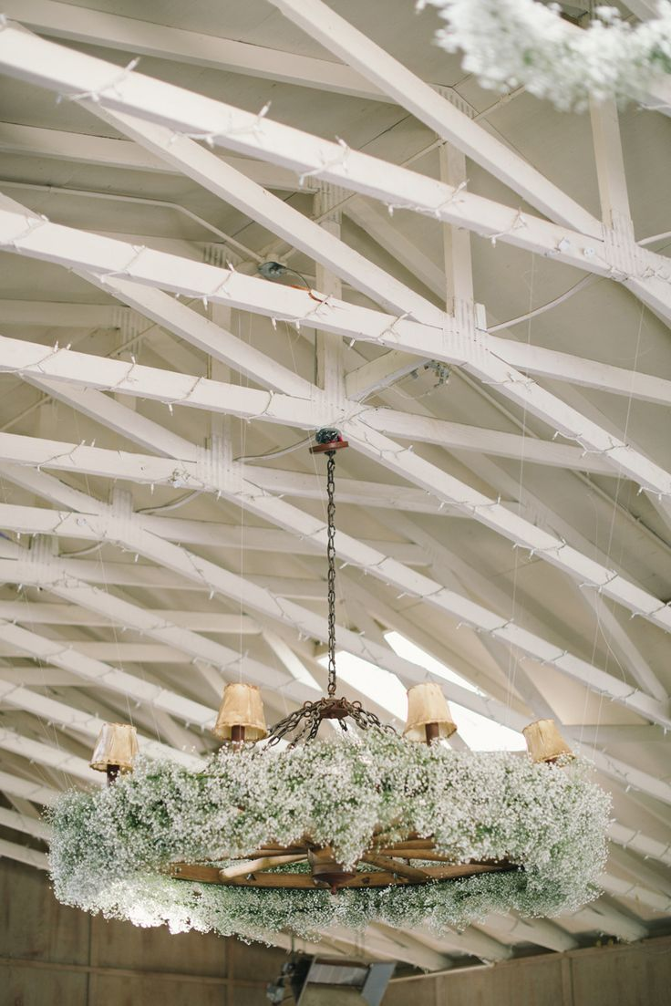 Baby's Breath Chandelier | Photography - DelbarrMoradi.com