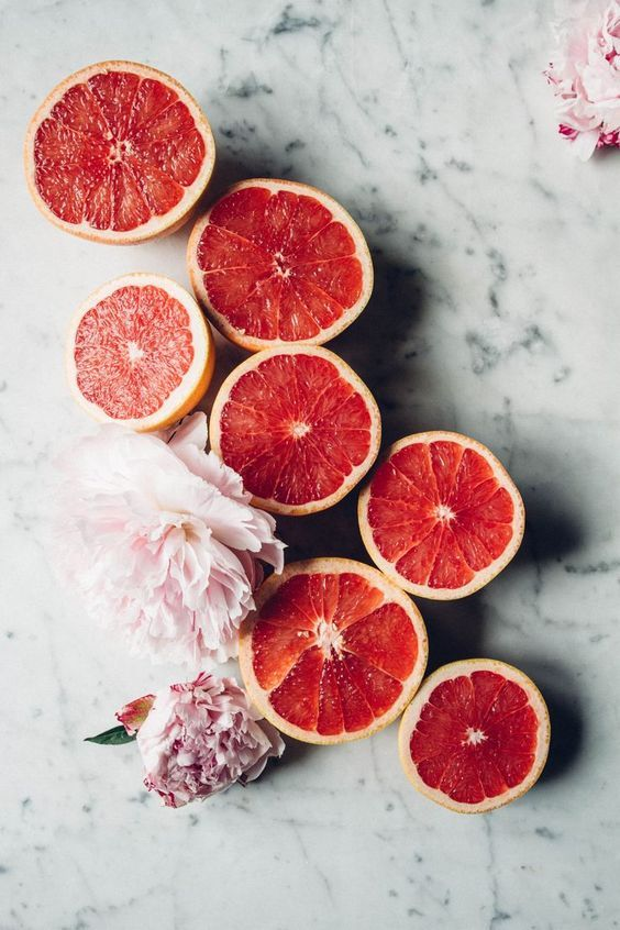 Grapefruit Halves | Food and Drink