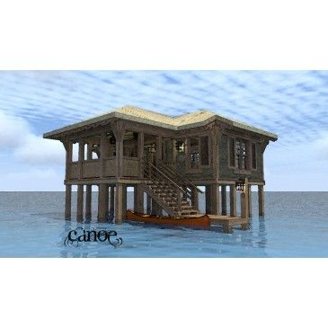 Pin by meridian environmental on beach houses pilings for Island house plans on pilings